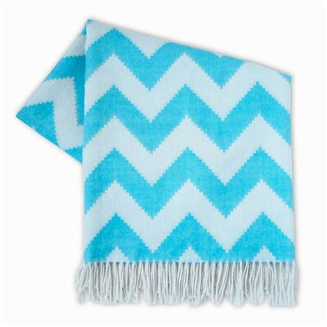 light blue throw blanket jonathan adler zig zag light blue throw blanket look 4 less