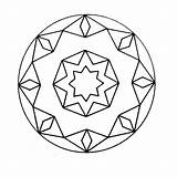 Kaleidoscope Coloring Mandala Pages Printable Q4 Coloringpages sketch template