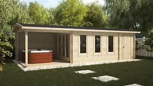 Gartenhaus Mit Terrasse : gartenhaus mit terrasse und schuppen super eva e 18 m2 9 x 3 m 44 mm casetas de jardin 24 ~ Whattoseeinmadrid.com Haus und Dekorationen