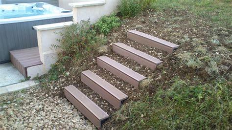 escalier exterieur modulesca habillage naturel