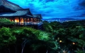 Fond d'écran : Japon, le coucher du soleil, mer, nuit ...