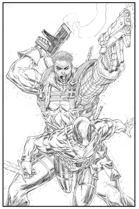 CABLE/DEADPOOL #2 COVER by ROB LIEFELD | Comic books art