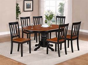 5 pc oval dinette kitchen dining set table w 4 wood seat for Kitchen table set