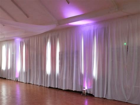 Wedding Wall Draping - transform an reception venue with these diy tricks
