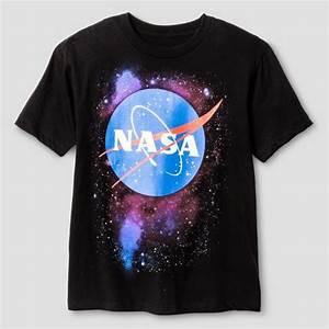 Boys' NASA Logo Space Graphic T-Shirt - Black : Target