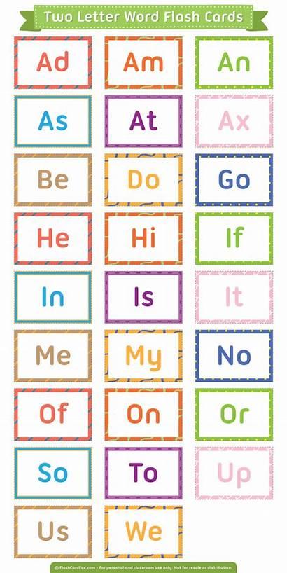 Letter Words Flash Cards Printable Phonics Worksheets