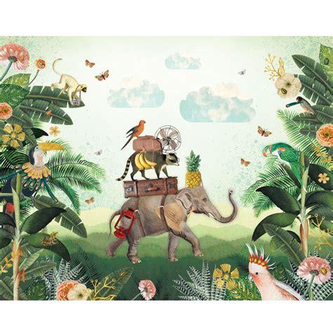 kinderbehang jungle wallpaper kids pimpelmees