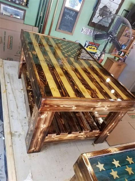 american flag coffee table   home pinterest