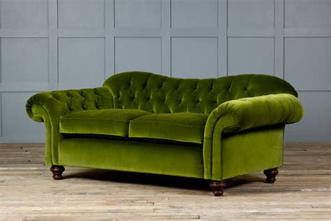 vintage green sofa creative of green leather chesterfield