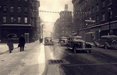 Mafia Cars Street Rain Snow Wallpapers Games