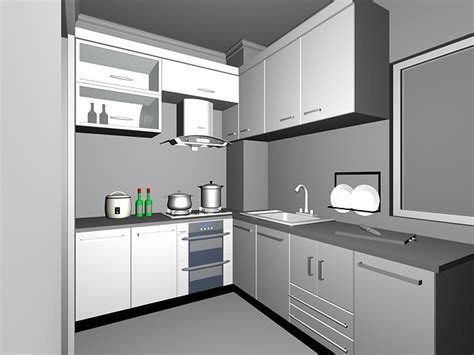 kitchen 3d design l shaped kitchen design 3d model 3dsmax files free 2107