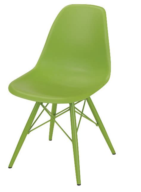 dulce standard chair lime green modern dining chairs