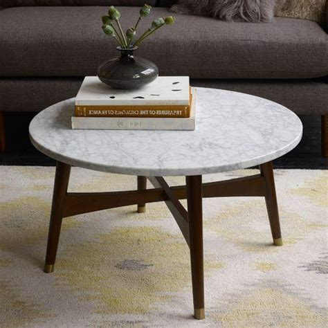 Marble Coffee Table Round  Shelby Knox
