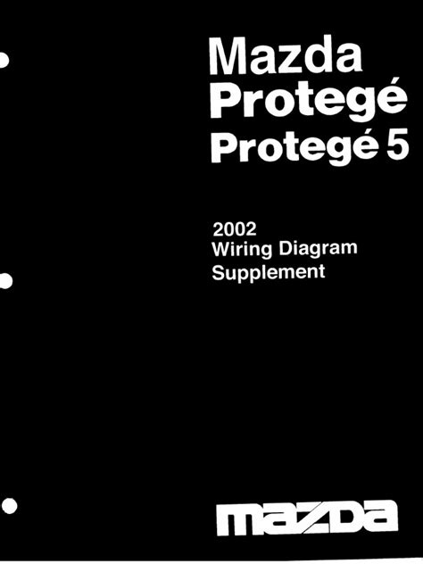 Mazda Protege Wiring Diagram Supplement