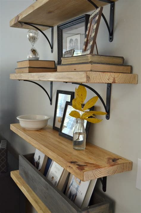 Regal Diy by Diy Rustic Wood Shelves At Home With The Barkers