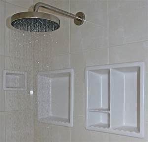 Bathroom niche, recessed shower shampoo niche pictures of
