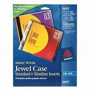 free cd jewel case insert template - printer