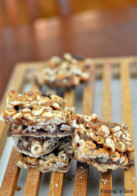 easy  yummy cheerio cereal bars keeping life sane