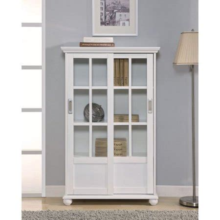 Walmart Bookcase With Glass Doors by Altra Bookcase With Sliding Glass Doors White Walmart