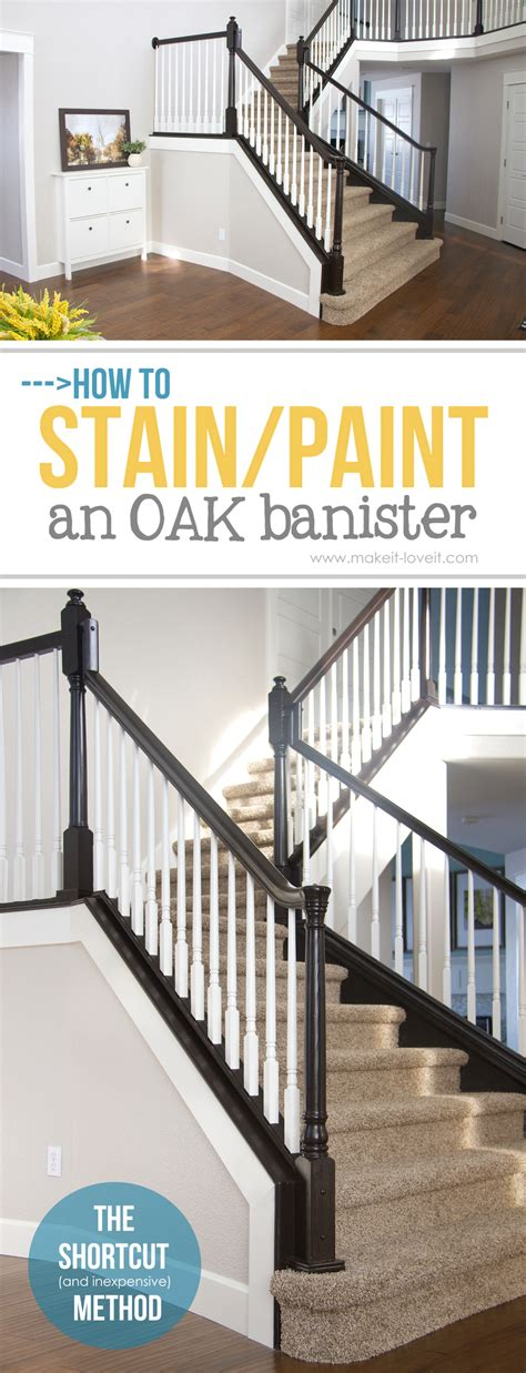 Banister Posts by How To Stain Paint An Oak Banister The Shortcut Method
