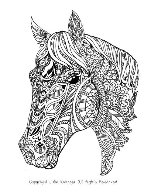 pin  stacy campbell  coloring horses mandala