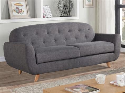 canapé 3 places tissu pas cher canapé 3 places charme roland en tissu coloris gris chiné