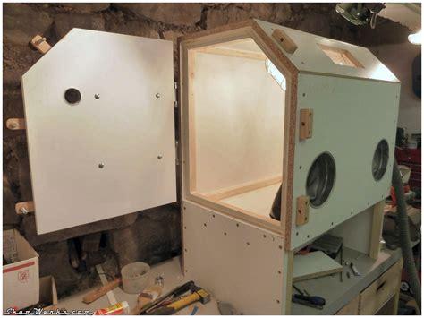 bead blast cabinet plans shamwerks workshop atelier cabine de sablage