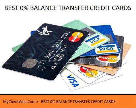 No transfer fee with this transfer apr. BEST 0% BALANCE TRANSFER CREDIT CARDS - MyCheckWeb.Com