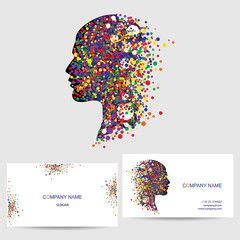 vector icon design element business card template