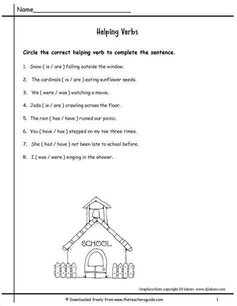 helping verbs worksheets middle school worksheets for all