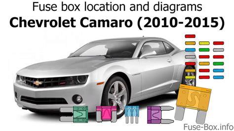 Fuse Box Location Diagrams Chevrolet Camaro