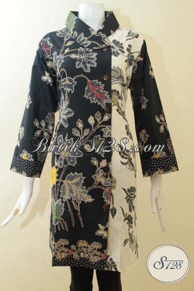 dress batik jumbo proses kombinasi tulis pakaian batik