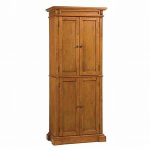 Shop Home Styles Distressed Oak Pantry at Lowes com