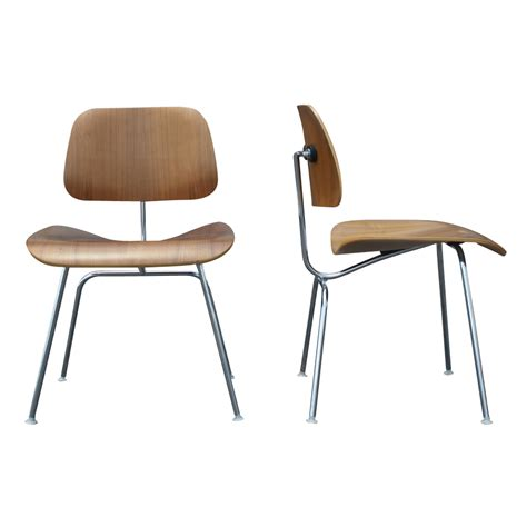 2 dcm herman miller eames style plywood chairs price