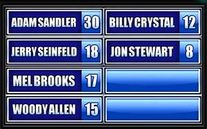 Name A Famous Jewish Actor. - Family Feud Guide : Family ...