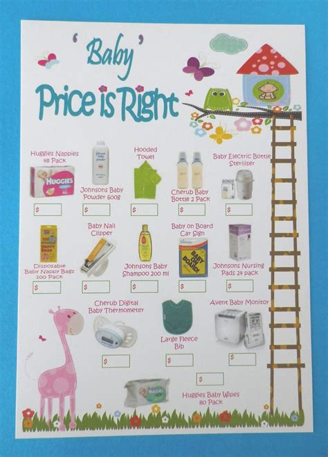 baby shower price is right price is right baby shower free word unscramble