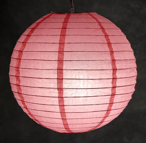 coral pink paper lanterns