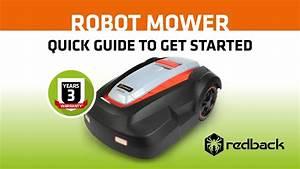 Redback Robot Mower Quick Guide Manual 2018