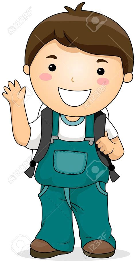Boy Clipart Boy Clipart Boy Student Pencil And In Color Boy Clipart