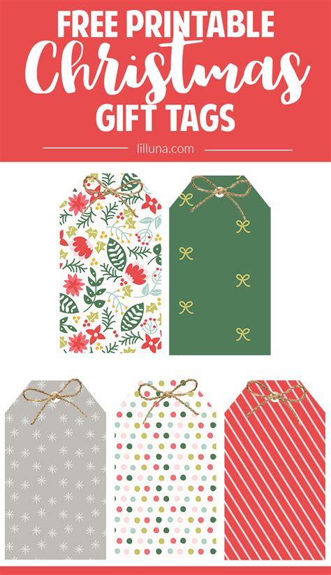 Free Christmas Gift Tags + 2016 Christmas Planner  Lil' Luna