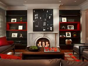 Red and black living room ideas for Black and red living room decor