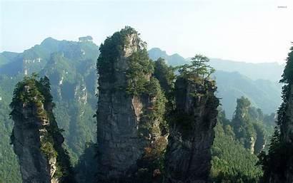 China Mountains Tianzi Wallpapers Nature Mountain Desktop