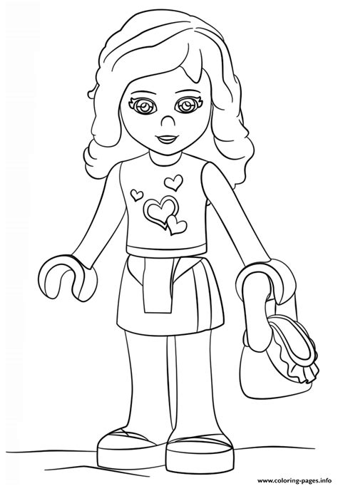 lego girls coloring pages design templates silhouette