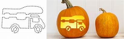 Rv Pumpkin Carving Templates Motorhome Pumpkins Towable