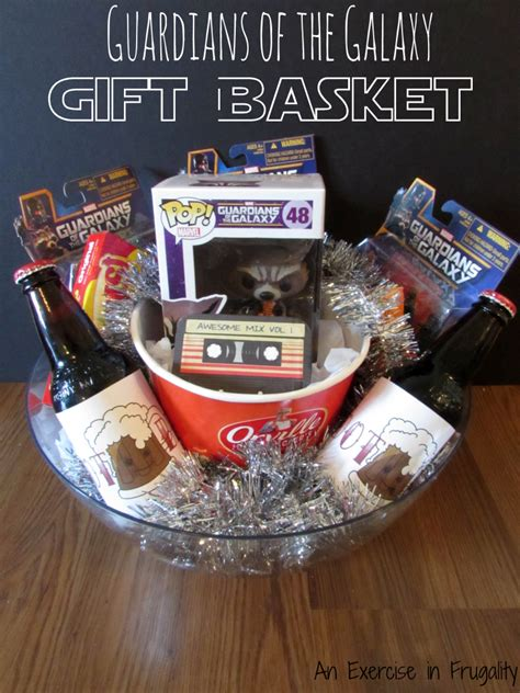 perfect gift for comic book fan guardians of the galaxy gift basket perfect for any marvel