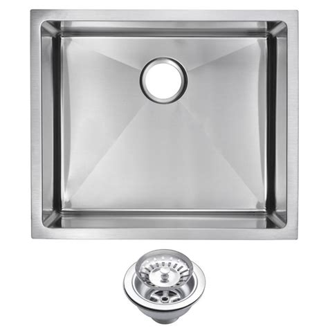 stainless steel kitchen sinks undermount water creation undermount stainless steel 23 in single 8279