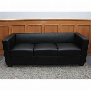 3er Couch : 3er sofa couch loungesofa lille leder schwarz ~ Pilothousefishingboats.com Haus und Dekorationen