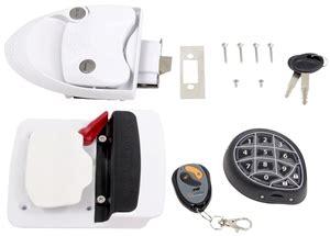 rv door locks keyless mobile outfitters 296656 rvlock keyless rv door lock white