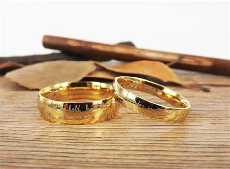 handmade your marriage vow signature rings wedding rings