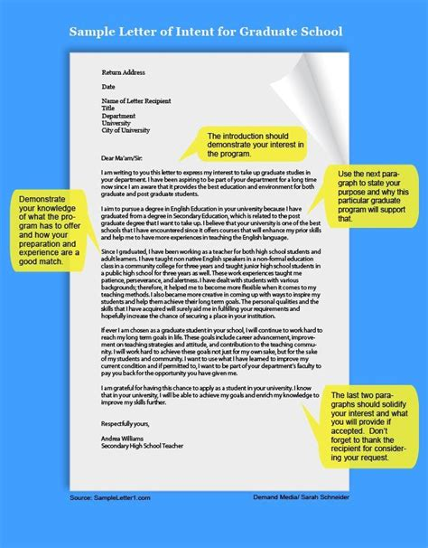 Example of a Letter of Intent | School essay, Letter of ...